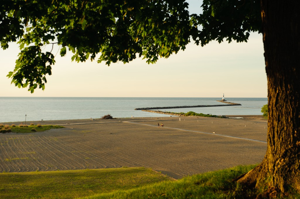 Conneaut Township Park's beach is one of the finest on the Great Lakes.