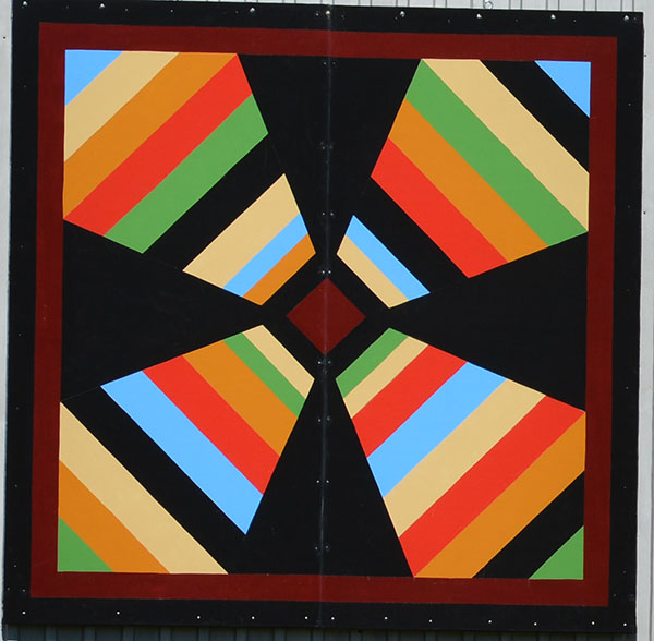 The barn quilt pattern used by Lynn Moore is based upon a family quilt made by her grandmother.