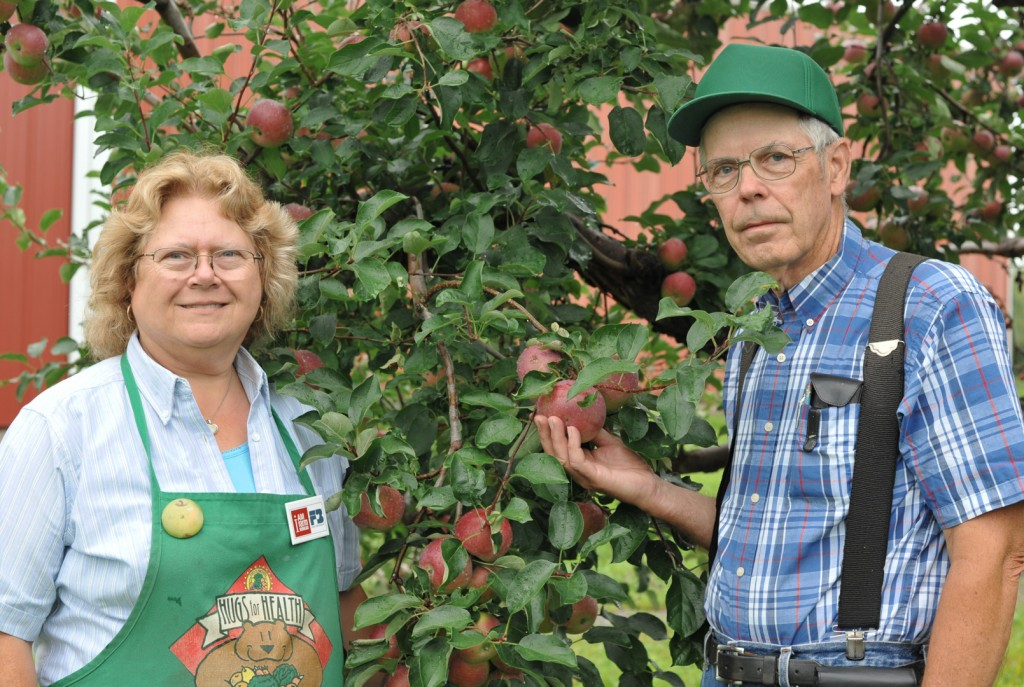 Don and Lynn Frank, owners of Cold Springs Orchard
