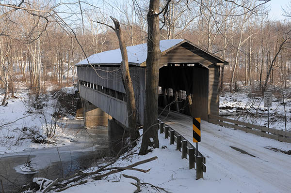 The Middle Road covered bridge in Monroe Township.