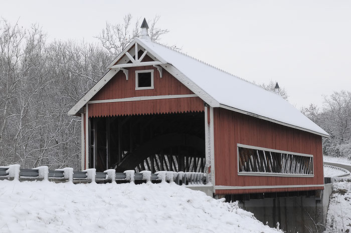 Netcher Road covered bridge is near the county seat of Jefferson. Photo by Carl E. Feather/Feather Cottage Media.