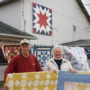 One of the photos from the Lake Erie Magazine article on the Ashtabula County Barn Quilt Trail.