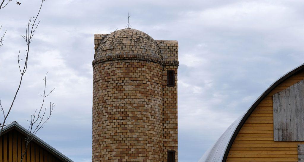sandstone brick silo