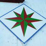 Mariner's compass barn quilt.